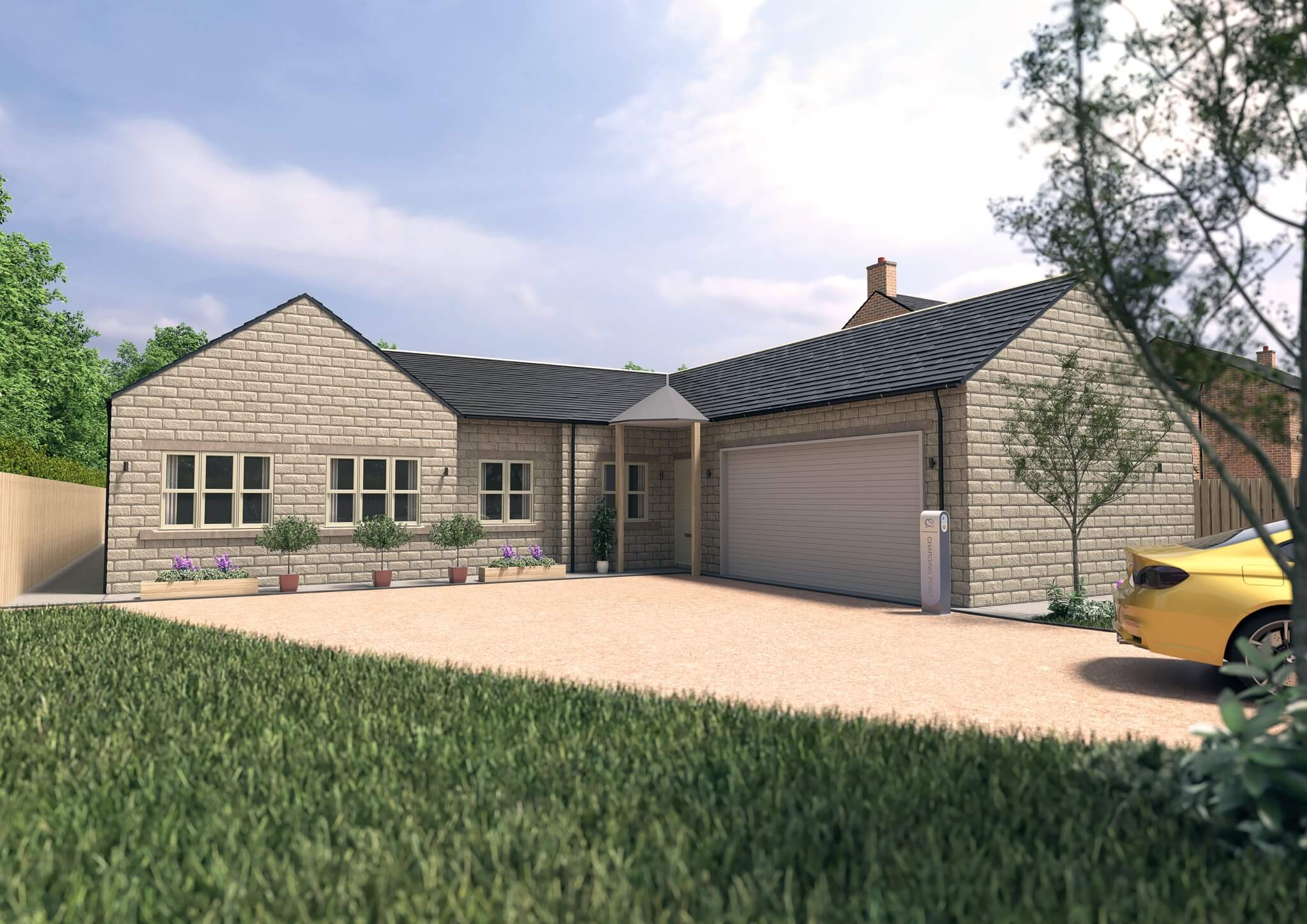 Harmby Homes Barley Court Staveley rear view