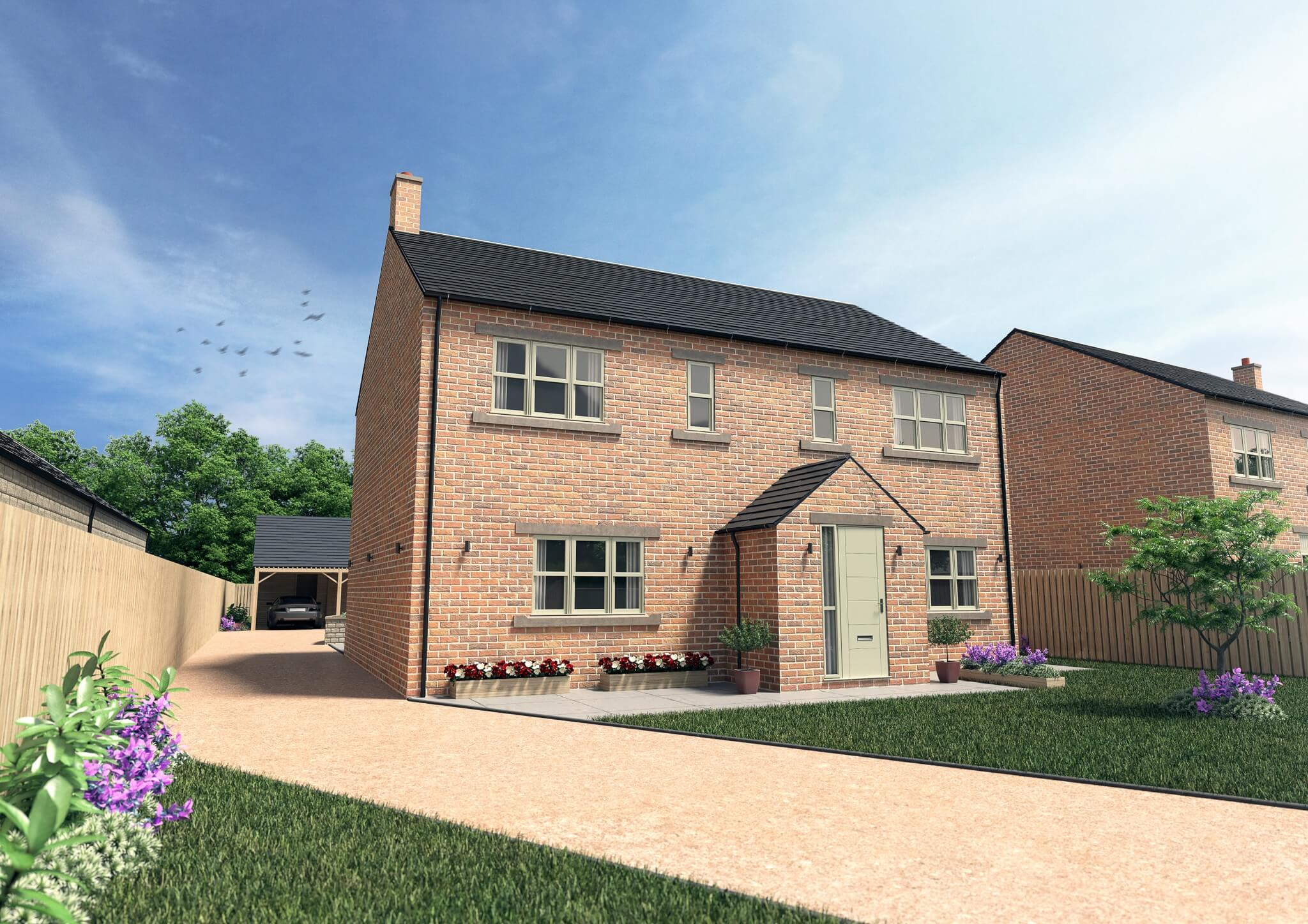 Harmby Homes Barley Court Staveley front view